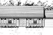 Country Style House Plan - 4 Beds 2 Baths 1620 Sq/Ft Plan #14-126 Exterior - Front Elevation