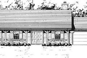 Country Exterior - Front Elevation Plan #14-126