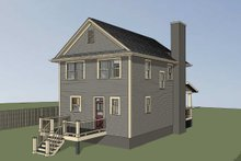 Bungalow Exterior - Rear Elevation Plan #79-261