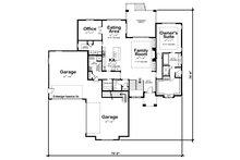 Craftsman Floor Plan - Main Floor Plan Plan #20-2369