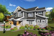 Craftsman Style House Plan - 4 Beds 3.5 Baths 2486 Sq/Ft Plan #70-1249 Exterior - Front Elevation