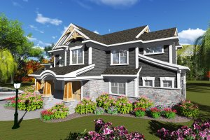 Craftsman Exterior - Front Elevation Plan #70-1249