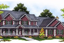 Dream House Plan - Country Exterior - Front Elevation Plan #70-543