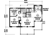 Country Style House Plan - 2 Beds 1 Baths 1104 Sq/Ft Plan #25-4358 Floor Plan - Main Floor