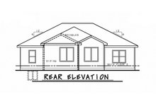 House Design - Ranch Exterior - Rear Elevation Plan #20-2321