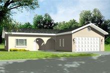 House Design - Adobe / Southwestern Exterior - Front Elevation Plan #1-1260