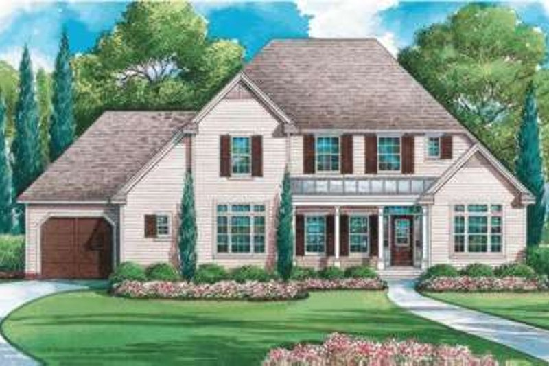 Traditional Exterior - Front Elevation Plan #20-1854 - Houseplans.com