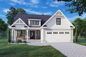 Cottage Exterior - Front Elevation Plan #929-1137