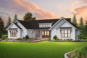 Contemporary Exterior - Front Elevation Plan #48-1037