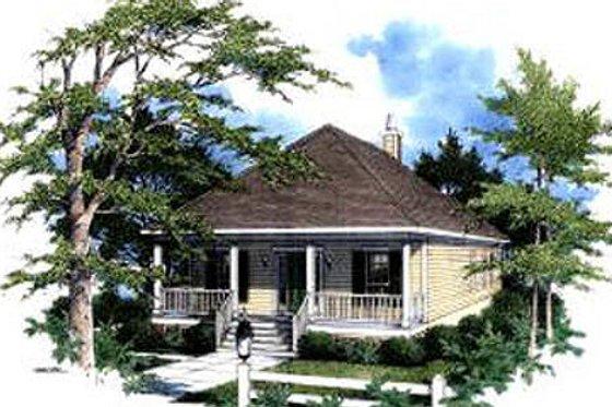 Cottage Exterior - Front Elevation Plan #37-132