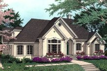 Dream House Plan - European Exterior - Front Elevation Plan #406-114