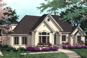 Dream House Plan - European Exterior - Front Elevation Plan #406-114