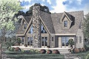 Log Style House Plan - 3 Beds 2.5 Baths 2402 Sq/Ft Plan #17-464 Exterior - Front Elevation