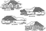 Mediterranean Style House Plan - 4 Beds 2 Baths 2287 Sq/Ft Plan #17-1135