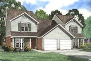 Traditional Style House Plan - 3 Beds 2.5 Baths 2502 Sq/Ft Plan #17-2012 Exterior - Front Elevation