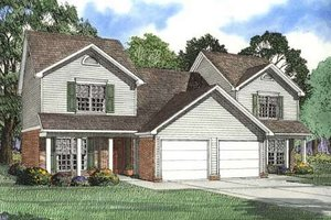 Traditional Exterior - Front Elevation Plan #17-2012