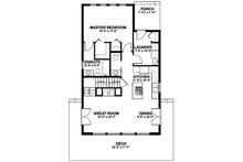 Cabin Floor Plan - Main Floor Plan Plan #126-188