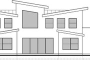 Modern Style House Plan - 4 Beds 2.5 Baths 3526 Sq/Ft Plan #1073-4 Exterior - Rear Elevation