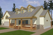 Home Plan - Southern Exterior - Front Elevation Plan #117-147