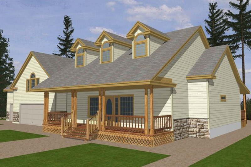 Dream House Plan - Southern Exterior - Front Elevation Plan #117-147