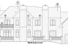 European Exterior - Rear Elevation Plan #20-2210