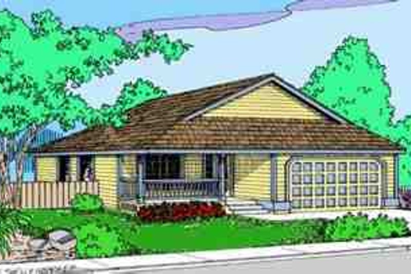 Traditional Exterior - Front Elevation Plan #60-609 - Houseplans.com