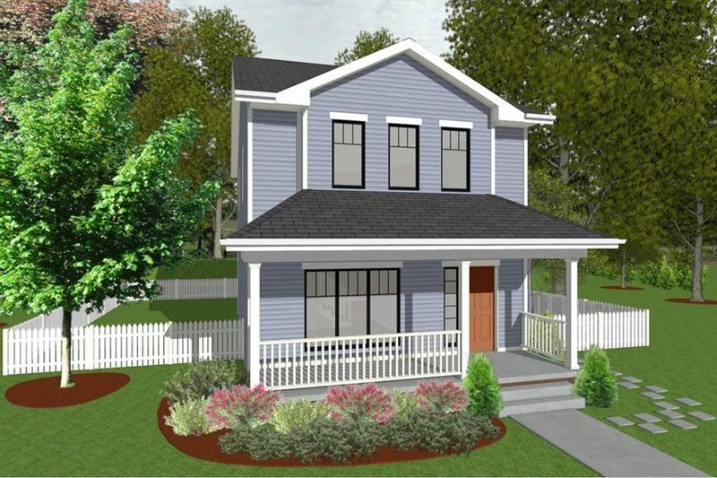 House Plan Design - Traditional Exterior - Front Elevation Plan #20-2105