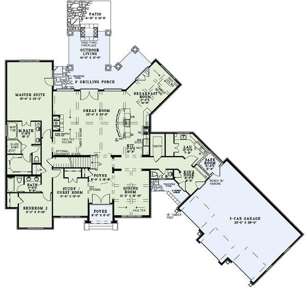 European Floor Plan - Main Floor Plan #17-2498