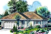 Traditional Style House Plan - 3 Beds 2 Baths 1676 Sq/Ft Plan #18-333 Exterior - Front Elevation