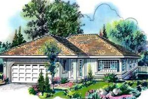 Traditional Exterior - Front Elevation Plan #18-333