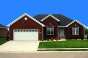 European Style House Plan - 3 Beds 2 Baths 1805 Sq/Ft Plan #412-127 Exterior - Front Elevation