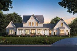 Dream House Plan - Farmhouse Exterior - Front Elevation Plan #1074-48