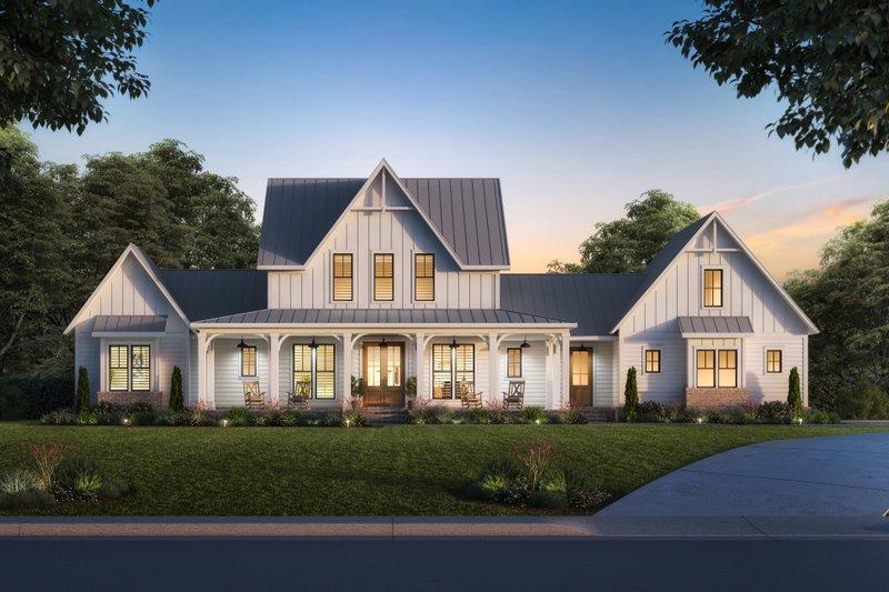 Home Plan - Farmhouse Exterior - Front Elevation Plan #1074-48