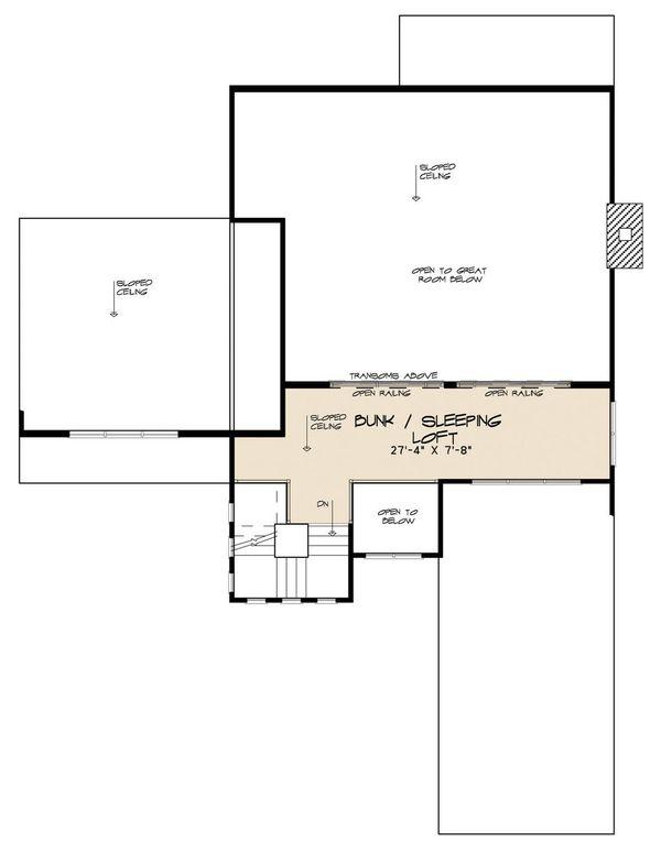 Contemporary Floor Plan - Upper Floor Plan Plan #923-52