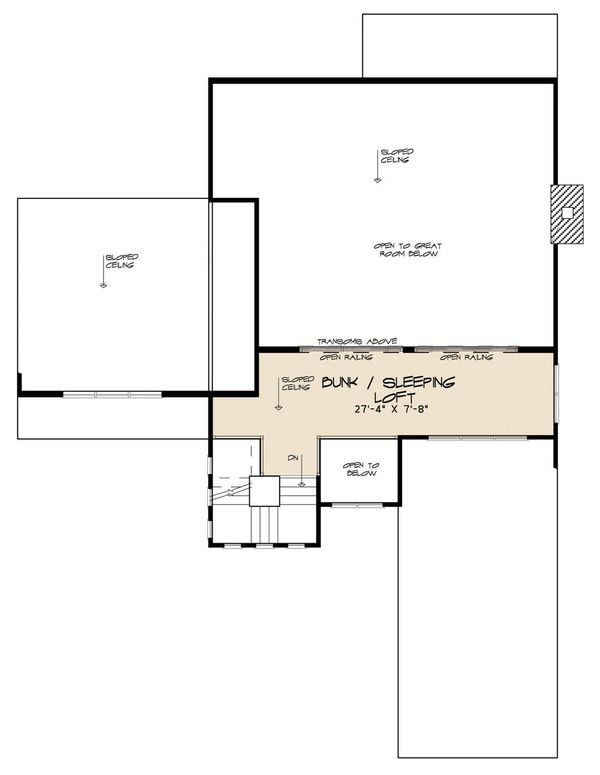 Contemporary Floor Plan - Upper Floor Plan #923-52