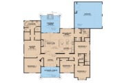 Craftsman Style House Plan - 5 Beds 3.5 Baths 2513 Sq/Ft Plan #923-20 Floor Plan - Main Floor