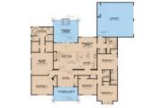 Craftsman Style House Plan - 5 Beds 3.5 Baths 2513 Sq/Ft Plan #923-20 Floor Plan - Main Floor Plan
