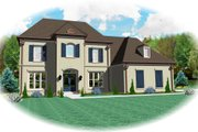 European Style House Plan - 4 Beds 2.5 Baths 3126 Sq/Ft Plan #81-13723 Exterior - Front Elevation