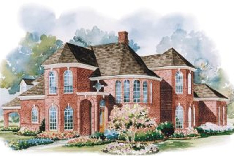 Traditional Exterior - Front Elevation Plan #20-1142 - Houseplans.com