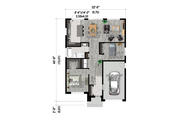 Contemporary Style House Plan - 2 Beds 1 Baths 1089 Sq/Ft Plan #25-4880 Floor Plan - Main Floor