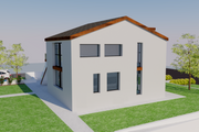 Contemporary Style House Plan - 5 Beds 5 Baths 1999 Sq/Ft Plan #542-20 Exterior - Other Elevation