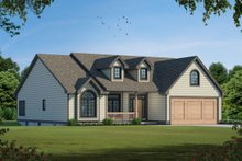 Home Plan - Traditional Exterior - Front Elevation Plan #20-123