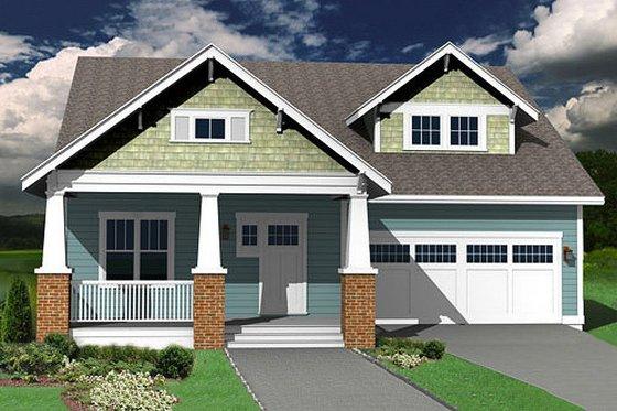 Craftsman Exterior - Front Elevation Plan #461-9
