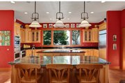 Craftsman Style House Plan - 3 Beds 5.5 Baths 6309 Sq/Ft Plan #124-691 Interior - Kitchen