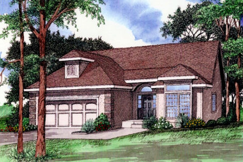 Exterior - Front Elevation Plan #405-212