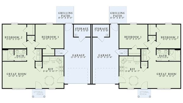 Traditional Floor Plan - Main Floor Plan Plan #17-2405
