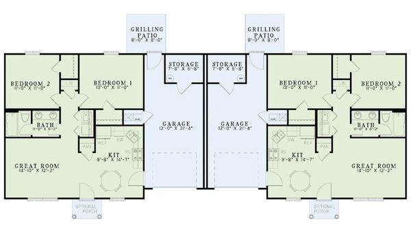 Traditional Floor Plan - Main Floor Plan Plan #17-2405