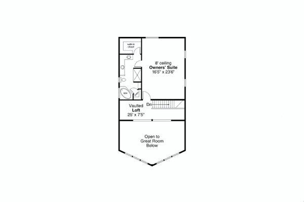 Craftsman Floor Plan - Upper Floor Plan #124-1242