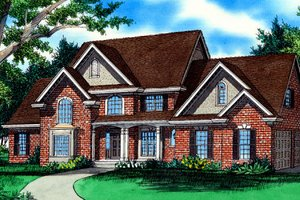 House Design - European Exterior - Front Elevation Plan #405-215