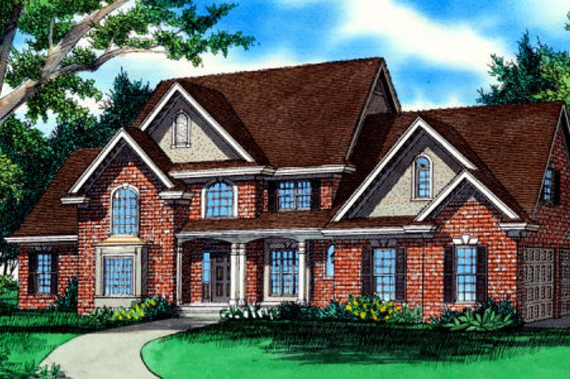 European Exterior - Front Elevation Plan #405-215